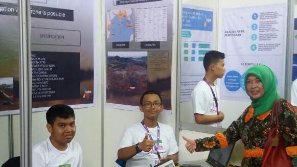 Siswa SMA N 1 Semarang pada ajang ISPO 2017