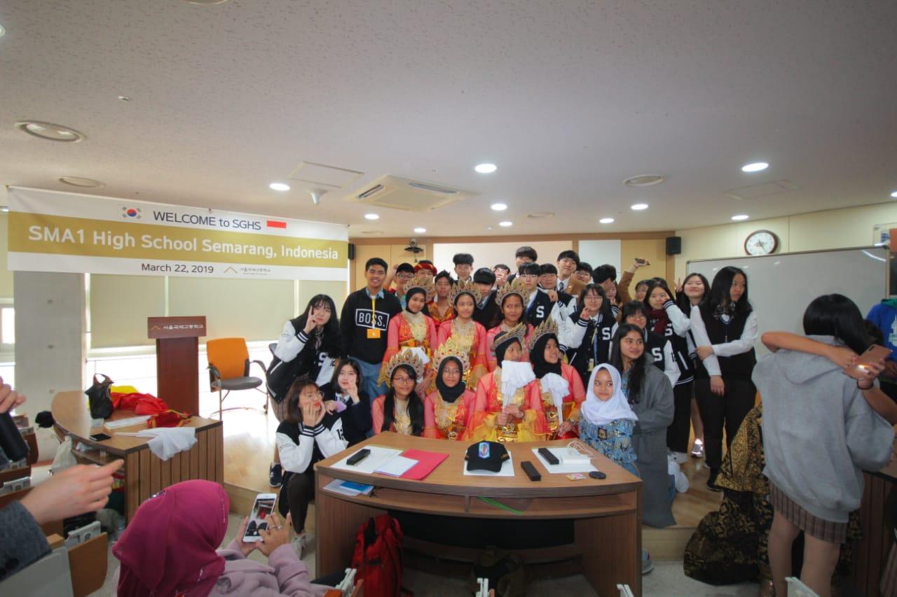 MoU SMA 1 Semarang dengan Seoul Global High School