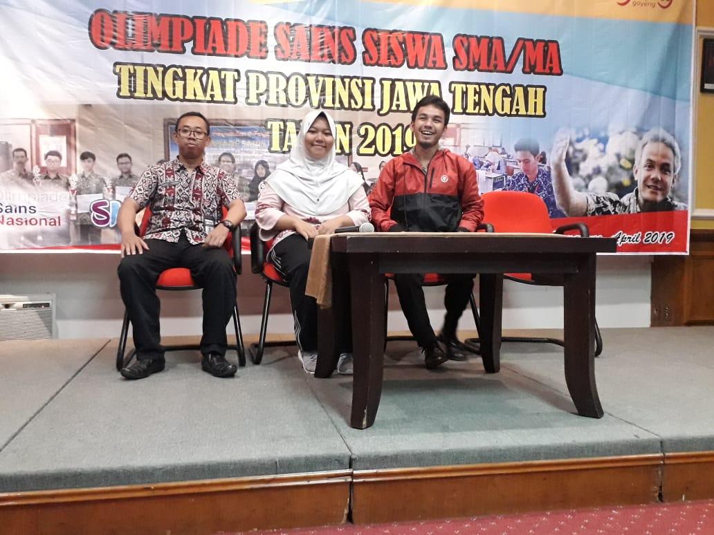 Tiga Siswa SMA Negeri 1 Semarang  Berjuang di Olimpiade Sains Provinsi (OSP)