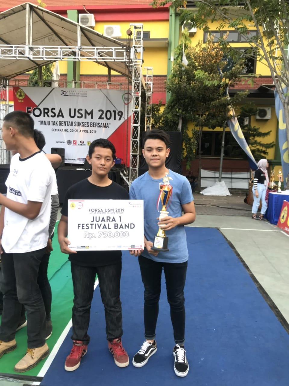 Forsa USM 2019, Blazend Band Smansa meraih juara 1 lomba band