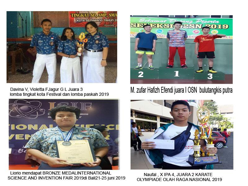 Prestasi SIswa- Siswa SMA Negeri 1 Semarang periode bulan Mei - Juni 2019